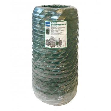 Diagonalgeflecht grün plastifiziert