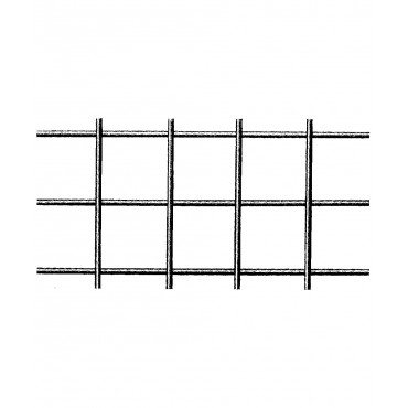 Geschweisste Gitter aus Galfandraht - quadratische Maschen