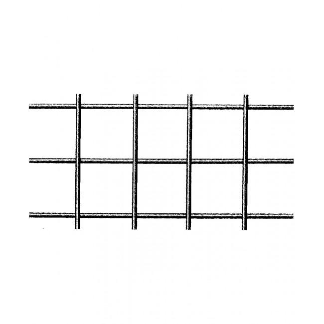 Gitter aus blankem Eisendraht - quadratische Maschen