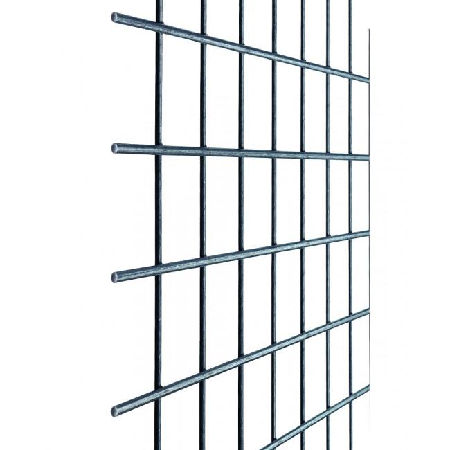 Geschweisste Gitter aus blankem Eisendraht - quadratische Maschen