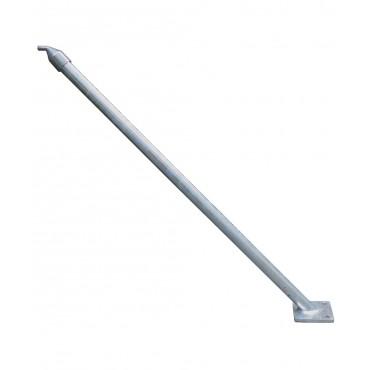 Contrefiche métallique tubulaire avec plaque de base