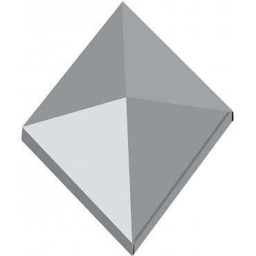 Capuchon en inox de forme carrée
