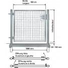 Portail simple avec cadre en tubes métalliques