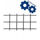 Treillis soudé en fil de fer clair - mailles carrées