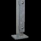 Poteaux FL (liste en fer plat) avec plaque de base zingués à chaud