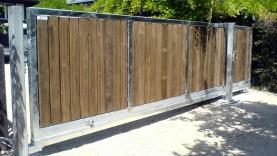Schiebetor freitragend mit Holzverkleidung-BIAUS-HSB-MK-100006600000-100101-01